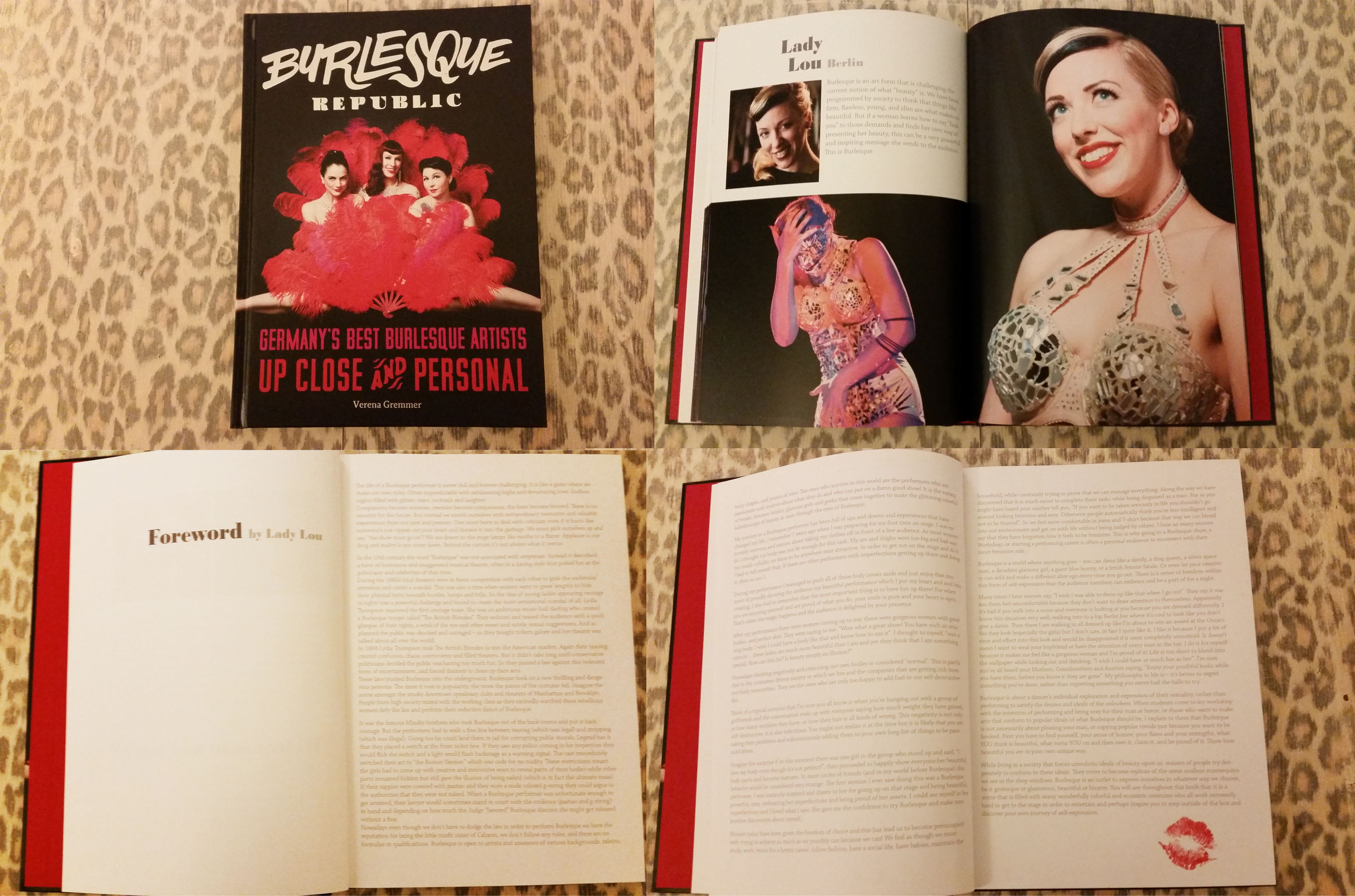 Foreword written by Lady Lou for Burlesque Republic, Germany's Best Burlesque Artists Up Close and Personal by Verena Grammer